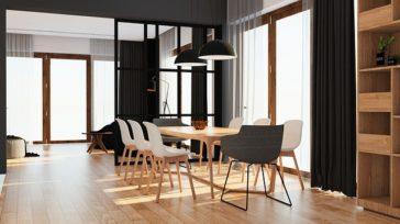 Proste i efektowne krzesło wykorzystane w stylistyce skandynawskiej